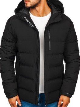Čierna pánska zimná bunda Bolf 5925