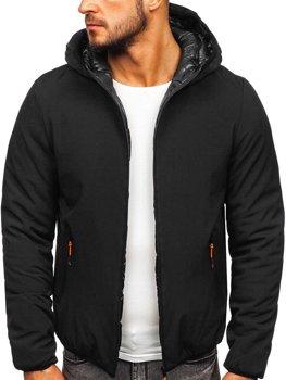 Čierna pánska zimná bunda Bolf  R1271