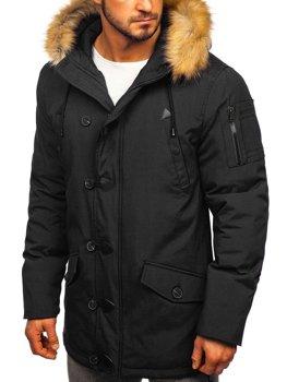Čierna pánska zimná bunda parka Bolf 1971