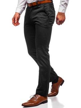 Čierne pánske chinos nohavice Bolf KA1786P