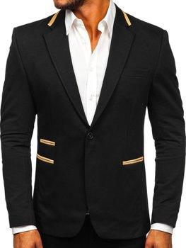 Čierne pánske elegantné sako Bolf 9400-1
