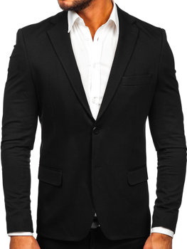 Čierne pánske elegantné sako Bolf SR2003