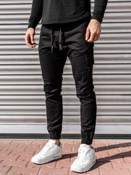 Čierne pánske jogger nohavice Bolf11104