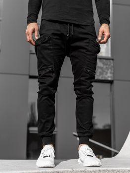 Čierne pánske kapsáčové joggery Bolf  0475