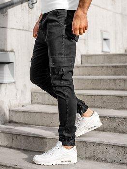 Čierne pánske kapsáčové joggery Bolf 0858