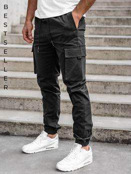 Čierne pánske kapsáčové joggery Bolf 701