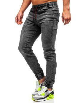 Čierne pánske rifľové joggery Bolf HY679