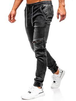 Čierne pánske rifľové joggery Bolf KA757