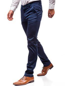 Čierne pánske spoločenské nohavice BOLF 7623