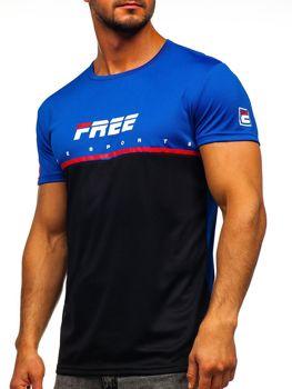 Čierne pánske tričko s potlačou Bolf  SS10996