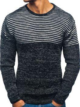Čierno-biely pánsky sveter BOLF 156