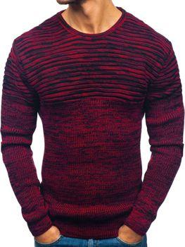 Čierno-červený pánsky sveter BOLF 156
