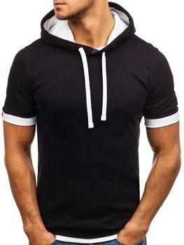 Čierno pánske tričko bez potlače BOLF 08