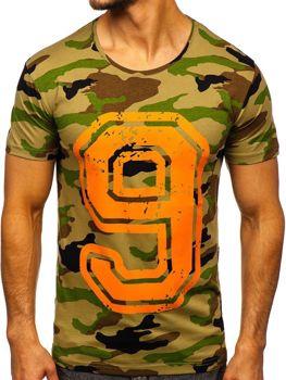 Farebné pánske tričko s potlačou BOLF 2101C