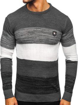 Grafitový pánsky sveter Bolf 4000