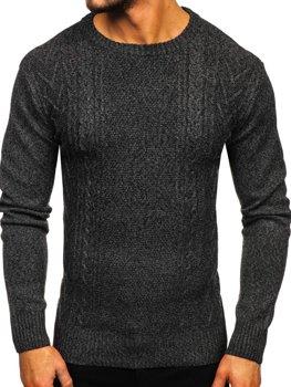 Grafitový pánsky sveter Bolf H1937