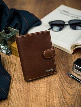 Hnedá pánska kožená peňaženka 4515