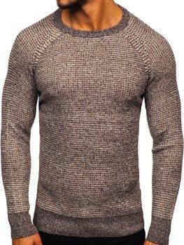 Hnedý pánsky sveter Bolf H1932