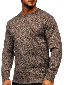 Hnedý pánsky zateplený sveter Bolf 7M117
