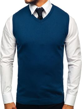 Indigo pánska pletená vesta Bolf 2500