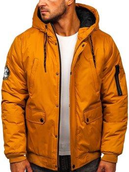 Kamelová pánska zimná bunda Bolf HY821
