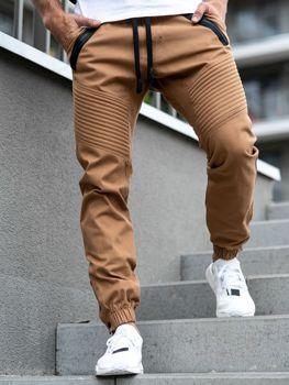 Kamelové pánske jogger nohavice BOLF 0952