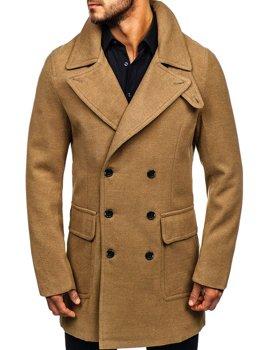 Kamelový pánsky zimný kabát BOLF 1048