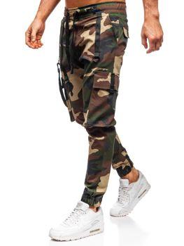 Khaki pánske kapsáčové joggery Bolf 11105