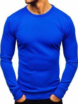 Kraľovský modrý pánsky sveter BOLF 2300