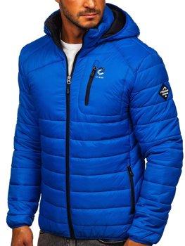 Modrá pánska prešívaná športová bunda Bolf BK031