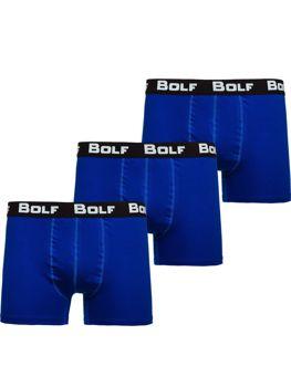 Modré pánske boxerky 0953-3P 3ks Bolf
