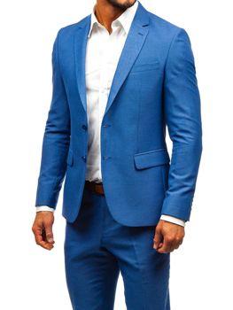 760e5012a828 Modrý pánsky oblek BOLF 19200-1