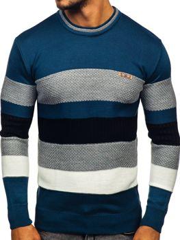 Modrý pánsky sveter Bolf 04