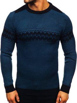 Modrý pánsky sveter Bolf 1806
