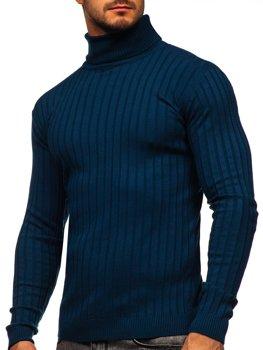 Modrý pánsky sveter / rolák Bolf 520