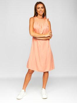 Oranžové dámske šaty Bolf 9785