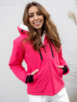 Ružová dámska lyžiarská zimná bunda Bolf HH012