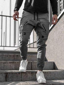 Šedé pánske jogger nohavice Bolf 0956