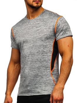 Šedé pánske tričko bez potlače Bolf KS2104