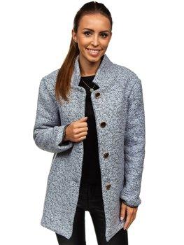 Šedý dámsky kabát BOLF 6011-1 ce195aa1e4d