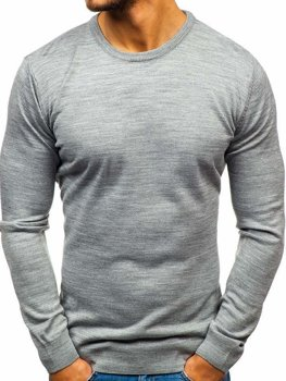 Šedý pánsky sveter BOLF 2300