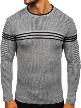 Šedý pánsky sveter Bolf 0001