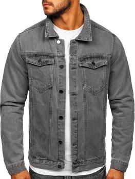 Sivá pánska rifľová bunda Bolf 2-3