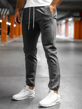 Sivé pánske jogger nohavice Bolf 1145