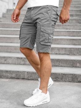 Sivé pánske kapsáčové šortky Bolf DF3053
