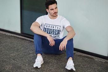 Štylizácia č. 441 - tričko s potlačou, chinos nohavice