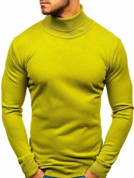 Svetlozelený pánsky sveter / rolák BOLF 2400