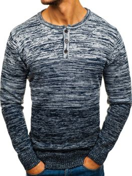 Tmavmodrý pánsky sveter BOLF H1821
