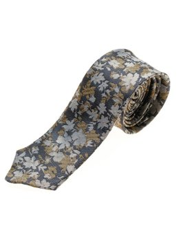 Tmavomodrá pánska elegantná kravata BOLF K109