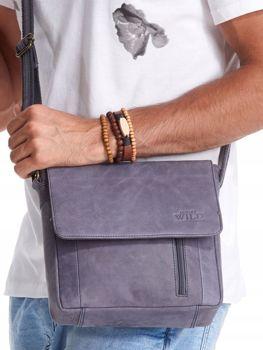 Tmavomodrá pánska kožená taška 2507
